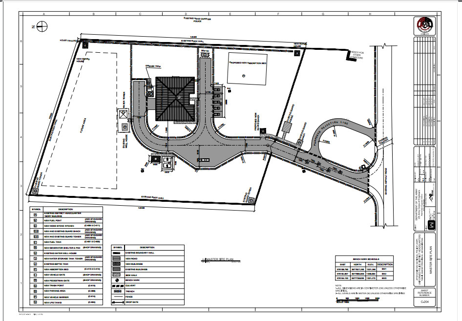 Location          :  TANAI, KHOST PROVINCE, AFGHANISTAN. Contract No.   : W5J9LE-10-C-0036 Year:JAN 23, 2011  Service Type   : Design and Survey